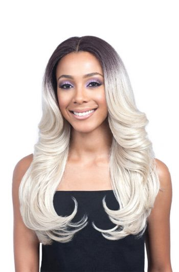 Bobbi Boss Lace Front MLF223 Jalanda Swiss Lace Premium Synthetic Wig Model Front