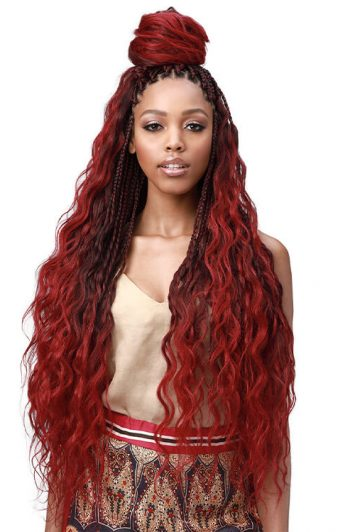 "Bobbi Boss King Tips Body Wave 28"" Model Front"