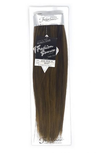 "Fashion Source Human Hair 7 Piece Clip-in 14"" Extensions"