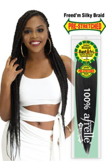 RastAfri Freed-m Silky Pre-Stretched Braiding Hair