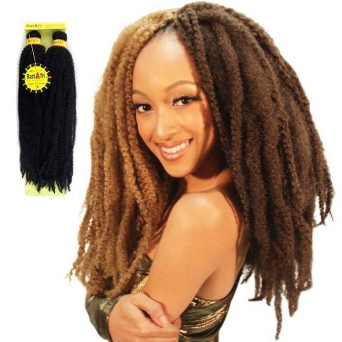RastAfri Malibu Afro Kinky 10″ or 14″ Textured Braiding Hair