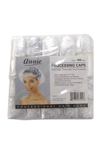 Annie #3541 Clear Disposable XL Processing Caps 100 ct