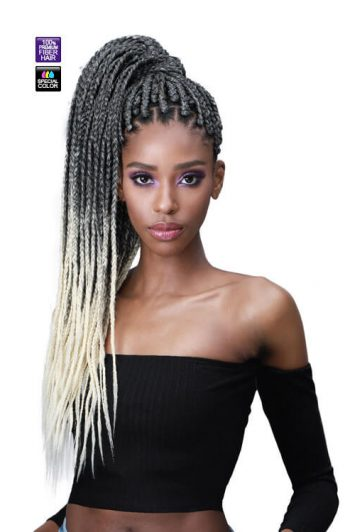 "Bobbi Boss Jumbo Braid Feather Tip 54"" Braiding Hair"