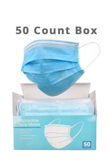 Disposable Face Masks - 50 ct Box