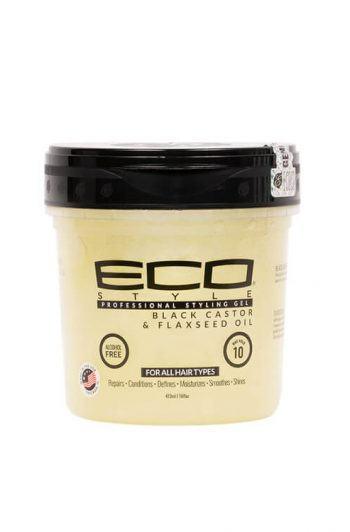 Ecoco Eco Style Black Castor and Flaxseed Oil Professional Styling Gel 16 oz