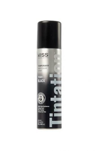 Kiss Colors Tintation Temporary Hair Color Spray TCS01 Black