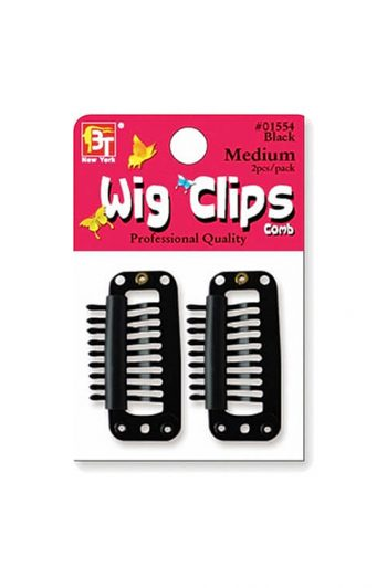 Beauty Town #01554 Black Medium Wig Clips