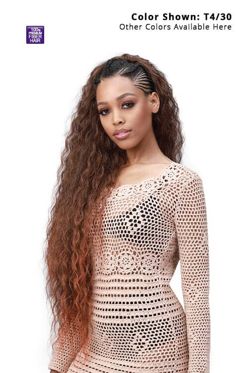 """Bobbi Boss King Tip Wet and Wavy Style 28"""" Pre-Feathered Tips 3x Pack Main"""