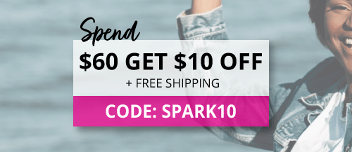 Spend $60 and use code spark10 for $10 off plus free shipping.