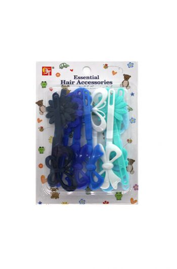Beauty Town Kids Hair Barrettes Princess Blue Mix