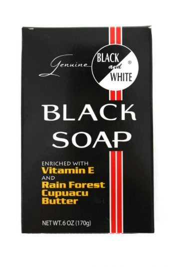 Black and White Genuine Black Soap 6 oz Vertical