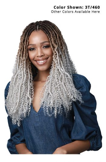 Bobbi Boss Nu Locs Water Curl Boho Style 18 in. Model Front 2