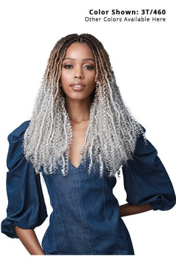 Bobbi Boss Nu Locs Water Curl Boho Style 18 in. Model Front