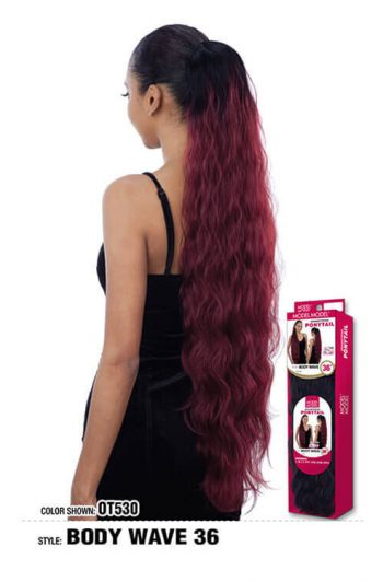 "Model Model Body Wave 36"" Drawstring Ponytail"