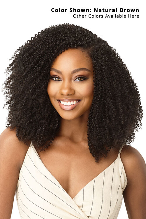 Outre Big Beautiful Hair 4C Coily Fro Clip-in Human Hair 9pcs Front