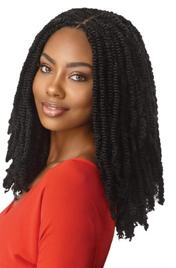 "Outre X-Pression Twisted Up 16"" Springy Afro Twist Crochet Braids"