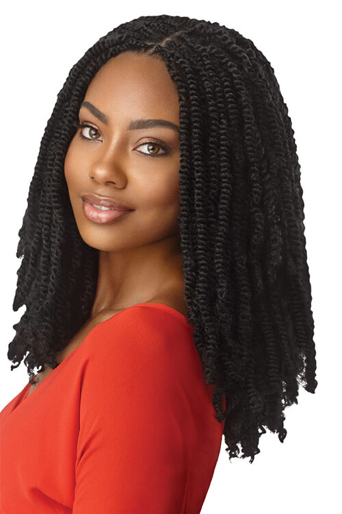 """Outre X-Pression Twisted Up 16"""" Springy Afro Twist Crochet Braids"""