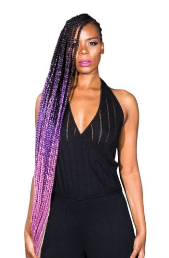 "RastAfri Amazon 54"" Pre-Stretched Braiding Hair Purple Model"