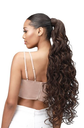 "Bobbi Boss Boss Up Romance Curl Professional Wrap Pony 30"" Side"
