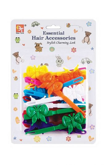 Beauty Town Kids Barrettes Butterfly Assorted Colors Package