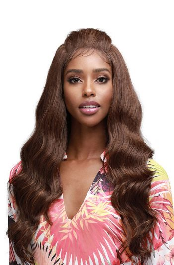 Bobbi Boss MLF364 Jazzlyn Unique Part Synthetic Lace Front Wig Model Front