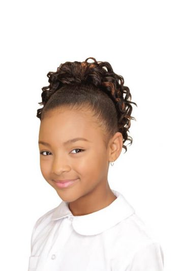 Eve Hair My Angel Kid-4 Drawstring Synthetic Ponytail Front