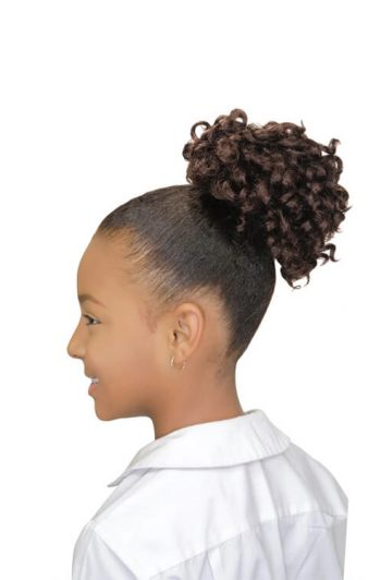 Eve Hair My Angel Kid-7 Drawstring Synthetic Ponytail Side