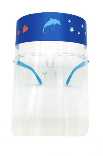 Kids Face Shield Blue Front