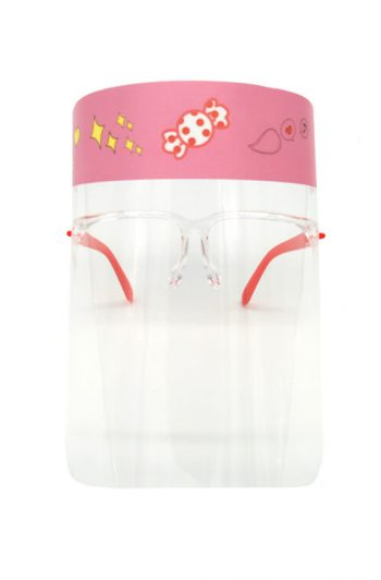 Kids Face Shield Pink Front
