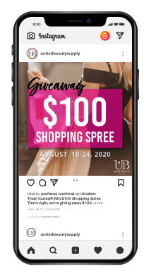 Instagram Post $100 Giveaway Shopping Spree Aug. 10 - 24
