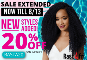 RastAfri Brand Sale: 20% Off now through August 13, 2020 with Code RASTA20