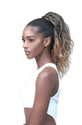 "Bobbi Boss Miss Origin Designer Mix Tress Up Loose Wave 14"" Synthetic Ponytail"