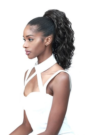 "Bobbi Boss Miss Origin Designer Mix Tress Up Ocean Wave 14"" Synthetic Ponytail"