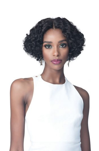 Bobbi Boss MHLF425 Whitney Lace Front 100% Human Hair Flex Fit Cap Wig Front