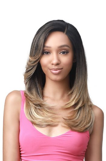 "Bobbi Boss MLF361 Beverly 4.5"" Deep HD Lace Part Premium Synthetic Wig Model Front"