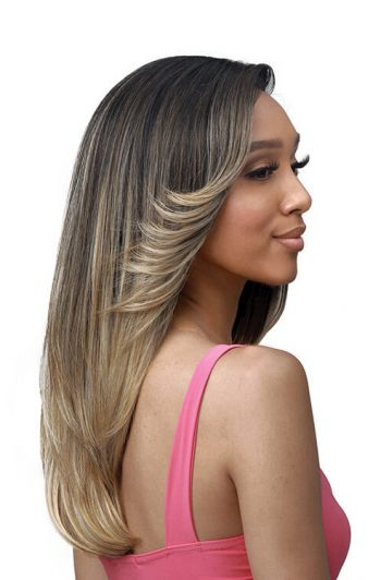 """Bobbi Boss MLF361 Beverly 4.5"""" Deep HD Lace Part Premium Synthetic Wig Model Side"""