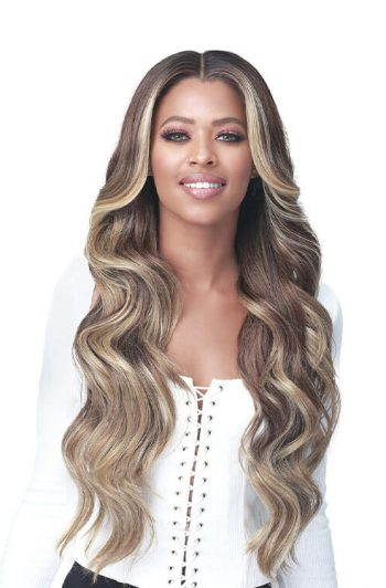 "Bobbi Boss MLF378 Macaria 4.5"" Deep HD Lace Part Premium Synthetic Wig Model Front"