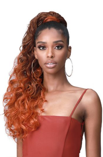 "Bobbi Boss Tress Up Ponytail Ocean Wave 28"" Front"