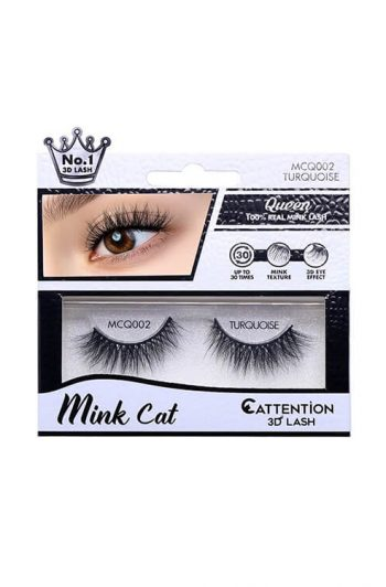 Ebin Cattention Queen Mink 3D Lash Turquoise Package