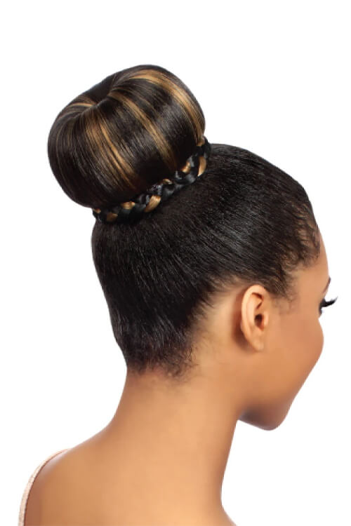 Eve Hair Fashion Dome Eve-010 Synthetic Bun Ponytail Model