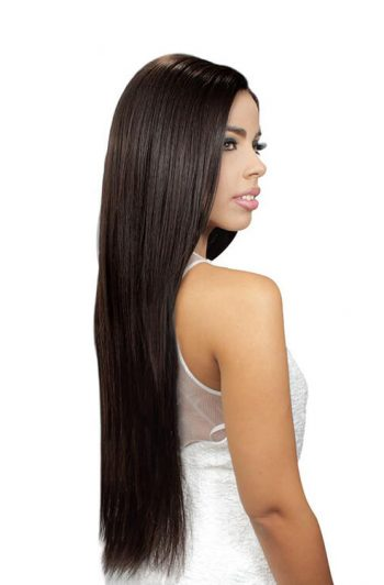 Eve Hair Inc. Platino 7 Pc Clip-In Model Side