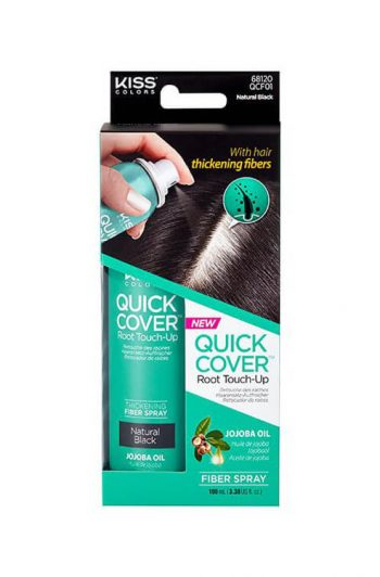 Kiss Colors Quick Cover Root Touch-Up Fiber Spray Natural Black