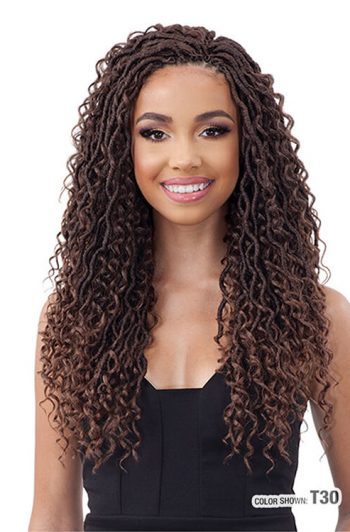 "Model Model Glance Braid River Loc 18"" 2X Crochet Braiding Hair Front"
