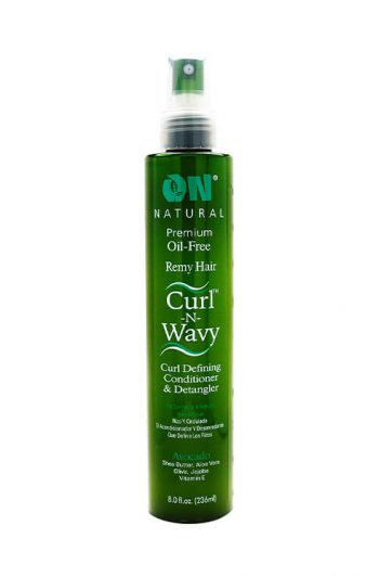 Organic Natural Curl N Wavy Curl Defining Conditioner and Detangler Avocado 8OZ