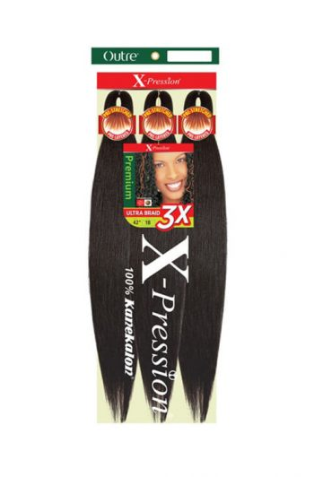 "Outre X-Pression Pre-Stretched Braiding Hair 42"" Packaging"