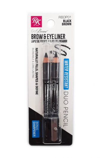 Ruby Kisses Go Brow Water Resistant Duo Pencil Package