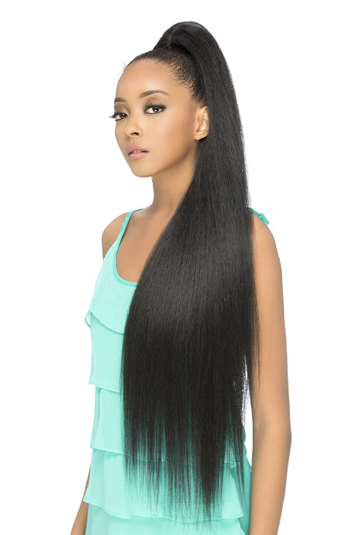 "Vivica A Fox HPB-Scarlett 36"" Sassy and Classy Pocketbun Extension Blended Ponytail Front"