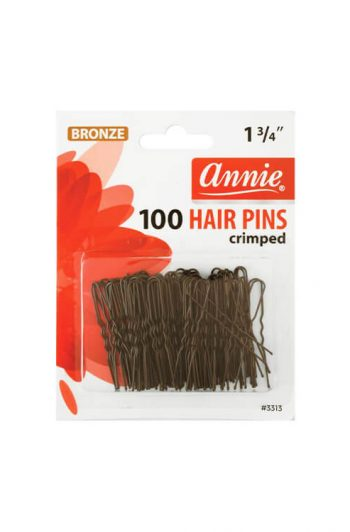 "Annie #3313 Bronze 1 3/4"" Crimped Hair Pins 100 ct"