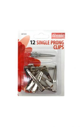 Annie #3169 Single Prong Clips 12 ct