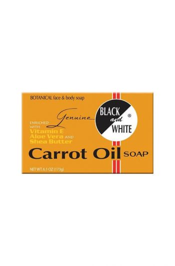 Black and White Genuine Carrot Oil Soap 6 OZ